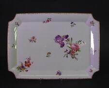 schönes  Tablett - Sarreguemines Blumendekor - 35x25
