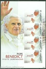 ST. VINCENT GRENADINES POPE BENEDICT VISITS JORDAN SHEET SC#3659  IMPF  MINT NH