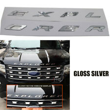 Gloss Silver EXPLORER Emblem Badge Plated Logo Sticker For Ford 2011-2017 Sporty