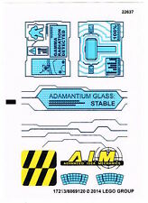 LEGO 76018 Sticker Sheet for Super Heroes - Avengers Hulk Lab Smash NEW Decals