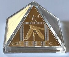 """Niue 2014 Masterpiece of Art """"The Great Pyramids"""" 3 oz Silver Gold Plated Coin."""