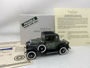 1/24 Danbury Mint 1931 Ford Model Deluxe Coupe green BEAUTY