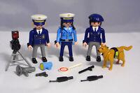 PLAYMOBIL Polizei Police Hundestaffel Verkehrskontrolle Drogenfahndung Radar #1