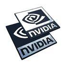 nVidia - Metallic Sticker Badge Set - 2 pieces - 48 mm x 48 mm