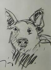 JOSE TRUJILLO - MODERN Contemporary SIGNED ORIGINAL CHARCOAL DRAWING PIG ANIMAL