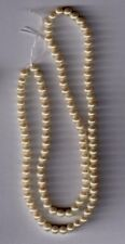 Vintage ivory pearl round Cultura glass beads--4 mm.