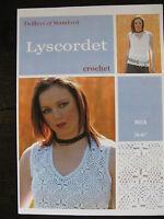 "Twilleys Crochet Pattern: Ladies Top, Lyscordet or Silky, 28-42"", 9018"
