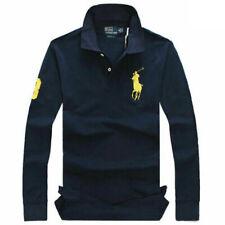 Ralph Lauren Man's Casual Business Polo T-shirt Long Sleeve Fit Cotton S-XXL UK