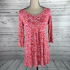 Boden Womens Tunic Top Fit & Flare Stretch 3/4 Sleves Scoopneck Pullover Size 12