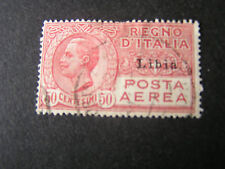 *LIBYA, SCOTT # C1, 50c. VALUE ROSE RED AIR POST OVERPRINTED 1928-29 ISSUE USED