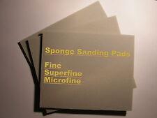 3-Sponge Sanding Pads Fine,Ex. Fine,Micro Fine for Gold,Silver Clay-Fimo-Polymer