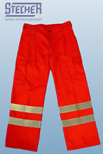 Rettungsdiensthose Bundhose Polyester-Baumwolle Leuchtrot (Orange) EN 471  Watex