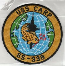 USS Carp SS 338 - Fish, Globe, Sub BC Patch Cat No B630