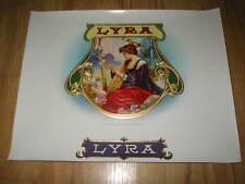 Original Old Antique - LYRA Inner Cigar Box Label - Lyre Musical Instrument