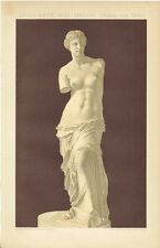 Tafel VENUS von MILO / APHRODITE von MELOS Original-Lithographie 1893