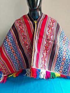 Peruvian Andean ceremonial poncho