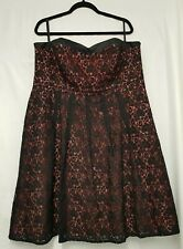 Debenhams Rocha JohnRocha Dress Evening Dress Size 20 Plus Size Black Lace Dress