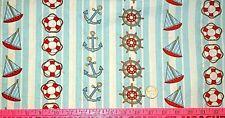 Nautical Theme In Stripes 100% Cotton 1/2 YARD 18