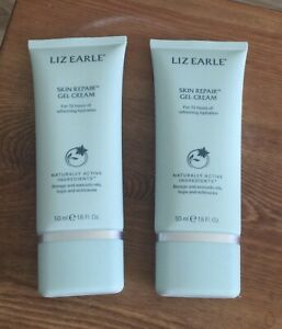 2x Liz Earle Skin Repair Moisturiser Tube GEL CREAM 50ml - Brand New & Sealed