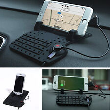 1xCar Holder Dashboard Stand USB Mount Charger Cradle Non-Slip Pad for Phone GPS