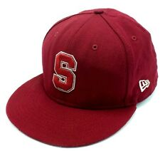 STANFORD CARDINALS -  100% wool crimson / red - fitted cap / hat - Size L