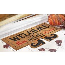 Mud Pie H7 Halloween Home Garden Floor Door Mat Welcome The Witch Is In 4265282