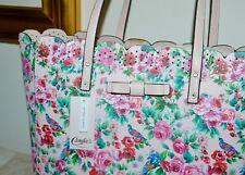 NWT $50 CANDIES PVC Faux Leather Lg. Tote Bag Shopper Rose Print