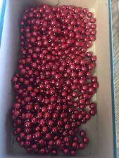 Vintage Plastic Christmas Garland Red Balls