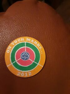 Girl Guiding On Your Marks 2012 Olympics Badge