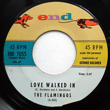 THE FLAMINGOS near-MINT doowop ORIGINAL End 45 Love Walked In / Yours mg1373