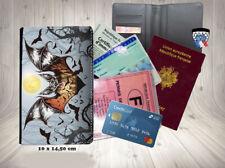 halloween - chauve souris 011 porte cartes permis passeport grise