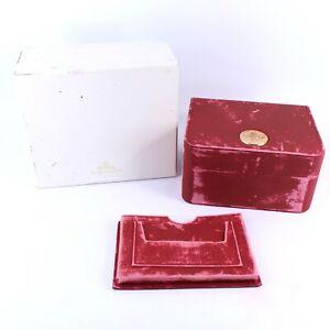 GENUINE OMEGA WATCH BOX RED & GOLD VINTAGE SEAMASTER SPEEDMASTER