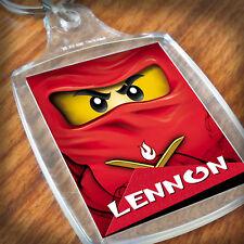Personalised NINJAGO, LEGO KEYRING,Lunch Bag, son daughter grandson grandaughter