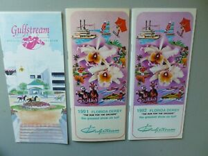 3 Florida Derby Horse Racing Programs - 1991 1992 & 94 - All Mint Holy Bull Etc.