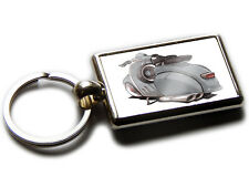 VESPA 150 Moped Scooter Koolart Chrome Keyring Picture Both Sides