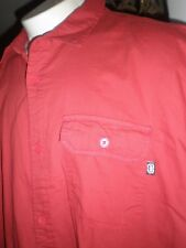 NWT ECKO UNLTD RED S/S FULL BUTTONED DRESS SHIRT SZ:4XB 4XL 4X