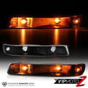 99-06 GMC Sierra 1500 2500 3500 Yukon Black Clear Front Park Signal Bumper Light