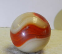 #13059m Vintage Akro Agate Corkscrew Shooter Marble .89 Inches