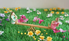 FAIRY SEE SAW MADE FROM WOOD VERY GOOD QUALITY - FAIRY GARDEN ACCESSORY - NEW
