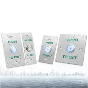LED Stainless Steel Panel Door Release Push Exit Button,Access Controller System