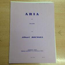 partition méthode ARIA pour Flûte et piano par Albert Roussel A Leduc