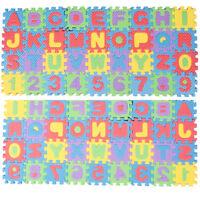 36pcs Soft Eva Foam Baby Play Floor Mat Alphabet Numbers Kid DIY Puzzle Jigsaw T