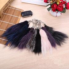 Fox tail fur ball pompon téléphone portable voiture keychain pendentif sac charme key toys