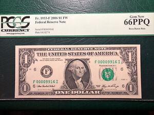 2006 $1.00 FRN F00009916I  (LOW #SN) 66Q