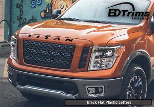 BDTrims | Black Plastic Letters for Nissan Titan ABS Raised Hood Inserts