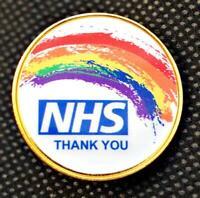 NHS Rainbow Thank You Lapel Pin Badge National Health Service UK