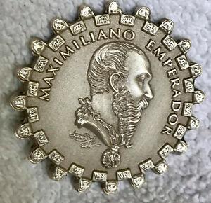MEDAL MEXICO IMPERIO MAXIMILIANO ACTUAL LORENZO RAFAEL SILVER  $1
