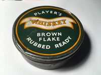 PLAYER'S Vintage Whiskey Brown Flake Empty Tobacco Tin Used