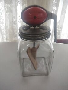 Dazey No.4 Red Style Butter Churn With No.40 Jar