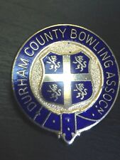 Blue Lapel Gold Tone Pin Durham Counting Bowling Association Preppy Enameled